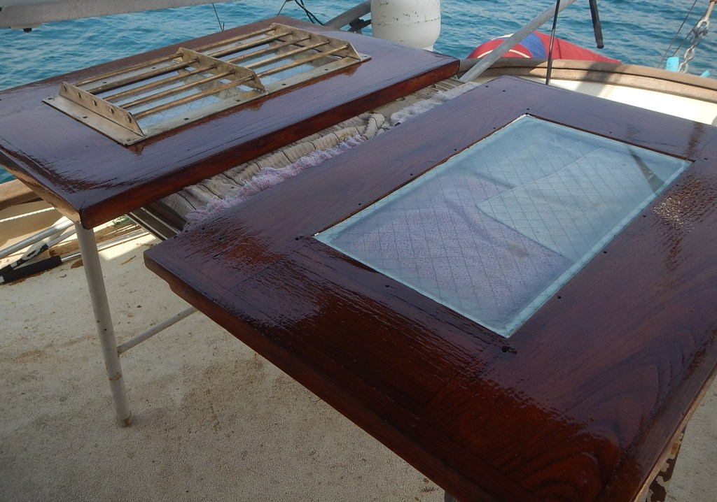 Varnishing Hatch Covers