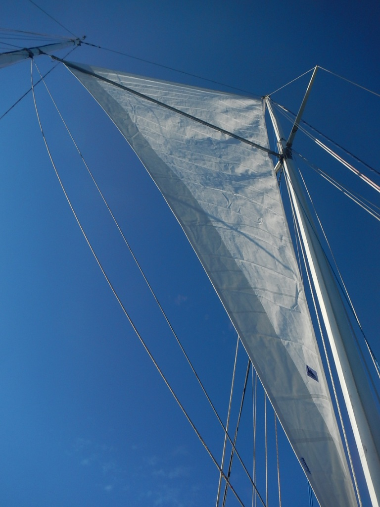 Flying the New Mainsail