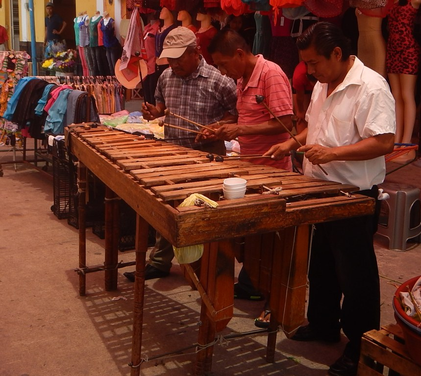 Marimba Players in Tuxtla Chico