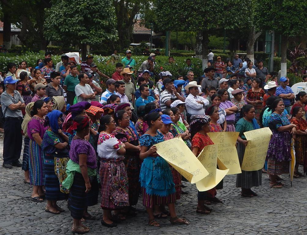 Protest in Antigua's Square