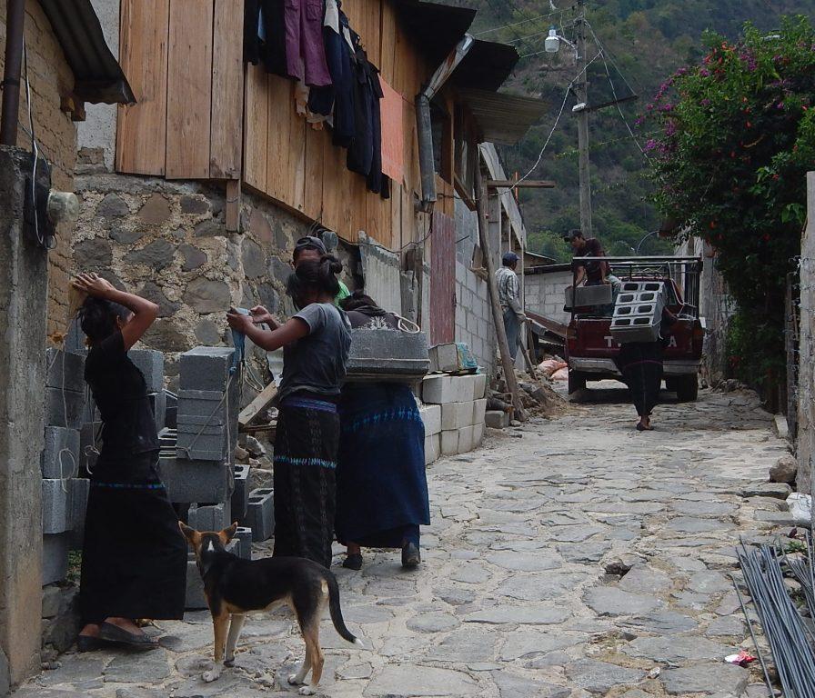 Carrying Cement Blocks in Santa Cruz