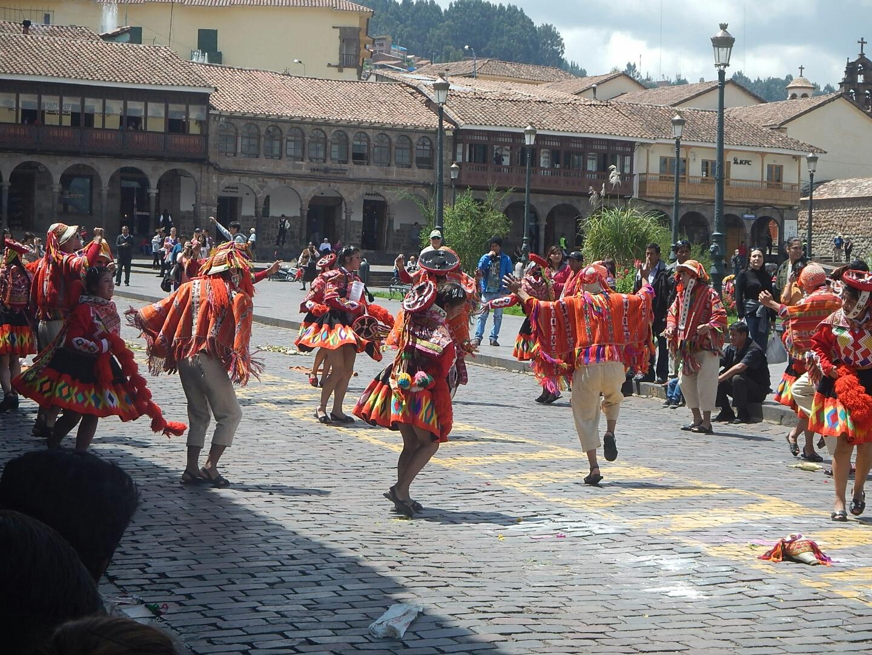Local Dancers in Cusco Day Parade
