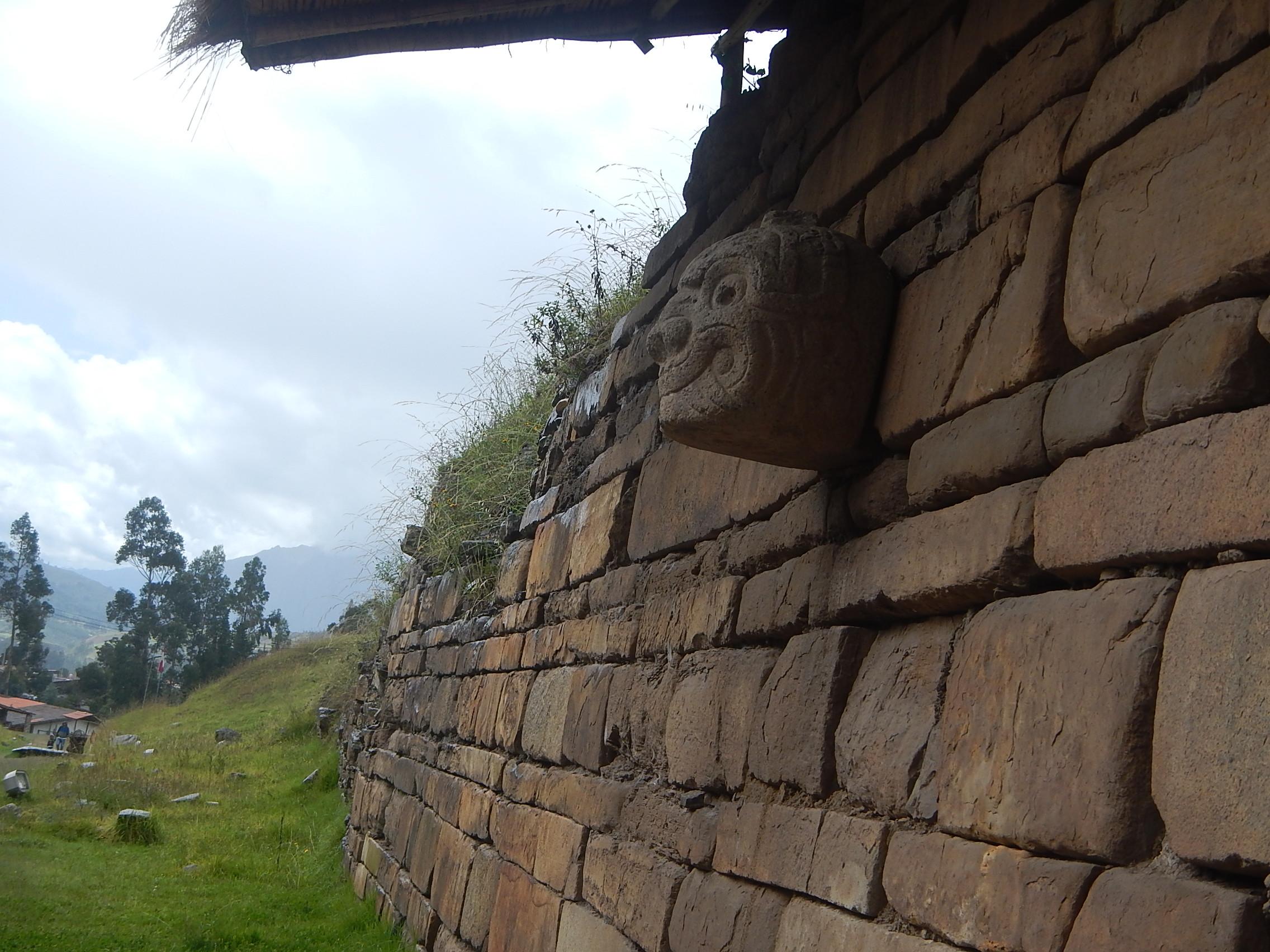 Chavin Head Carving