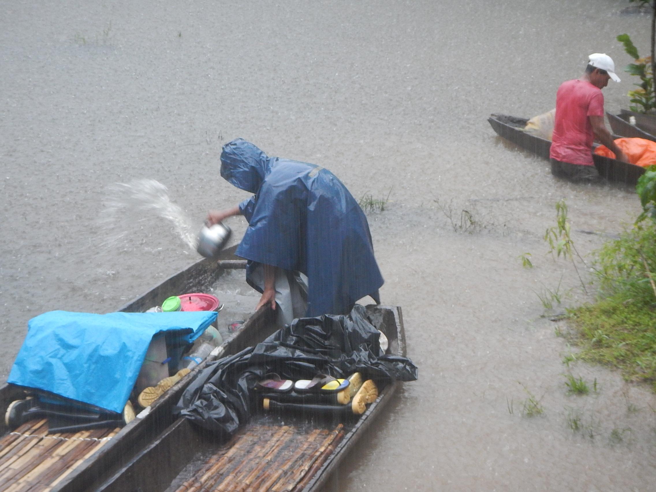 Bailing a Canoe