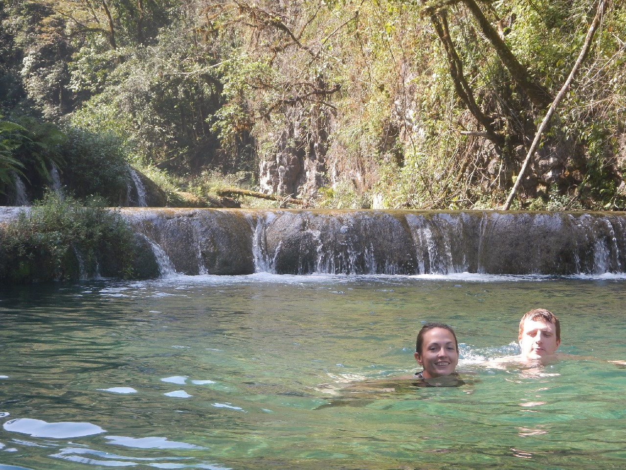Swimming at Semuc Champey