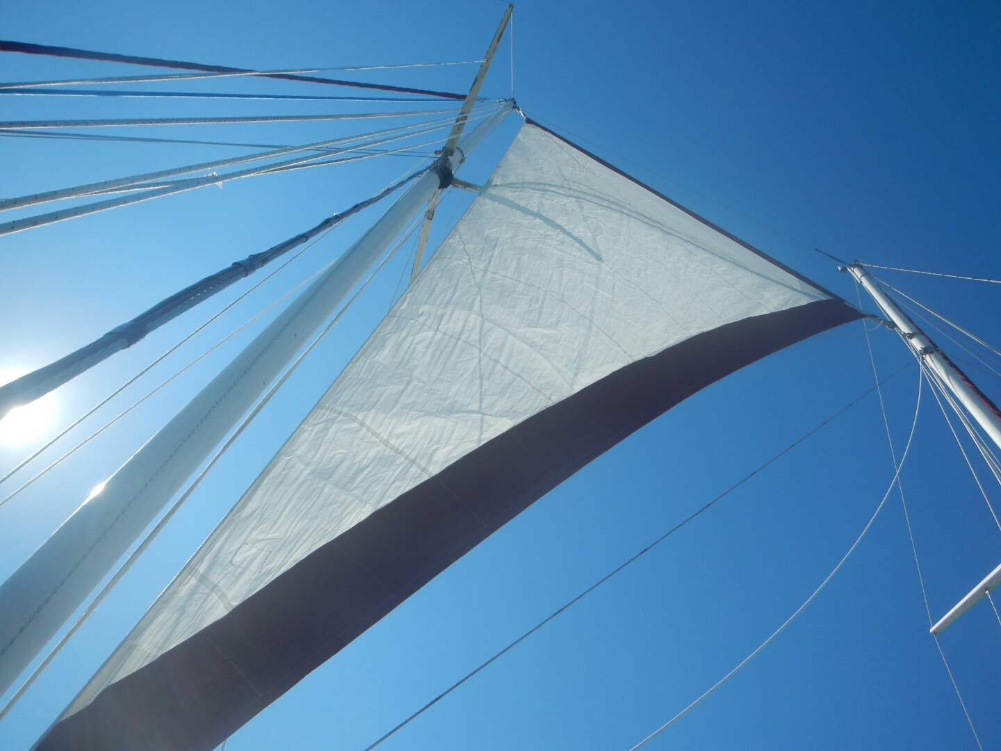 Newly Covered Mainsail